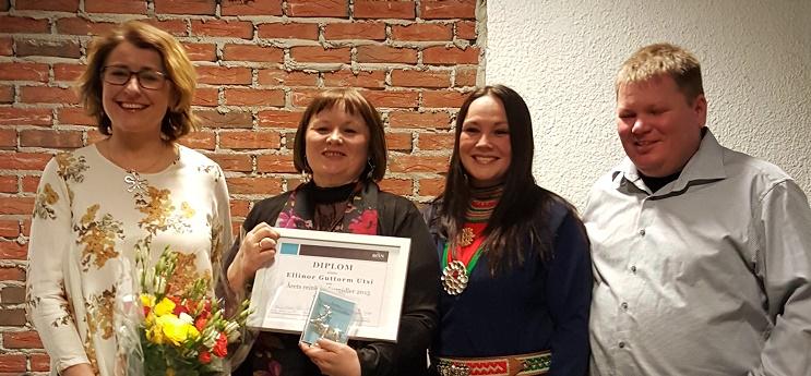 Jury og vinner Ellinor G. Utsi